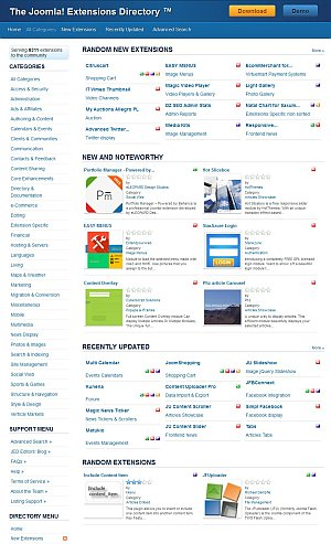 Joomla Extensions Directory 300px